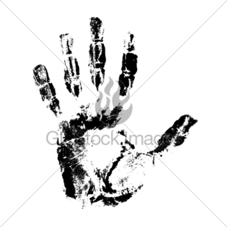 325x325 Handprint Of Different Colors Vector Illustration Gl Stock Images