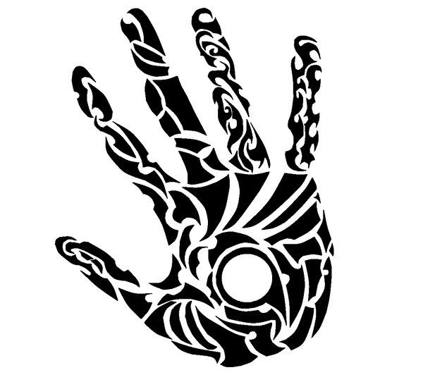 600x525 Tribal Handprint By ~gripenemy On So Cool! Http
