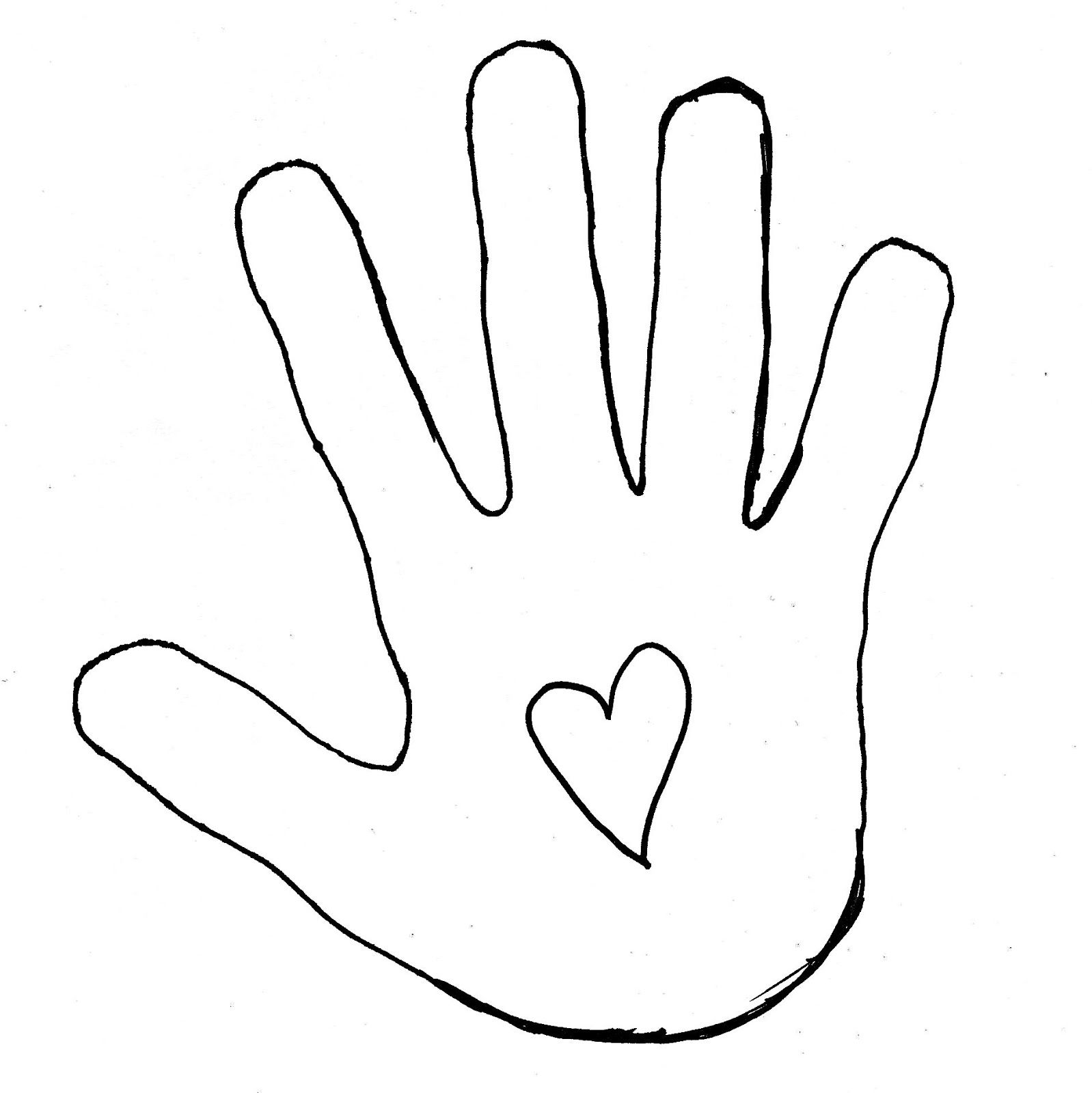 1598x1600 Handprint Gospel Glove Outline