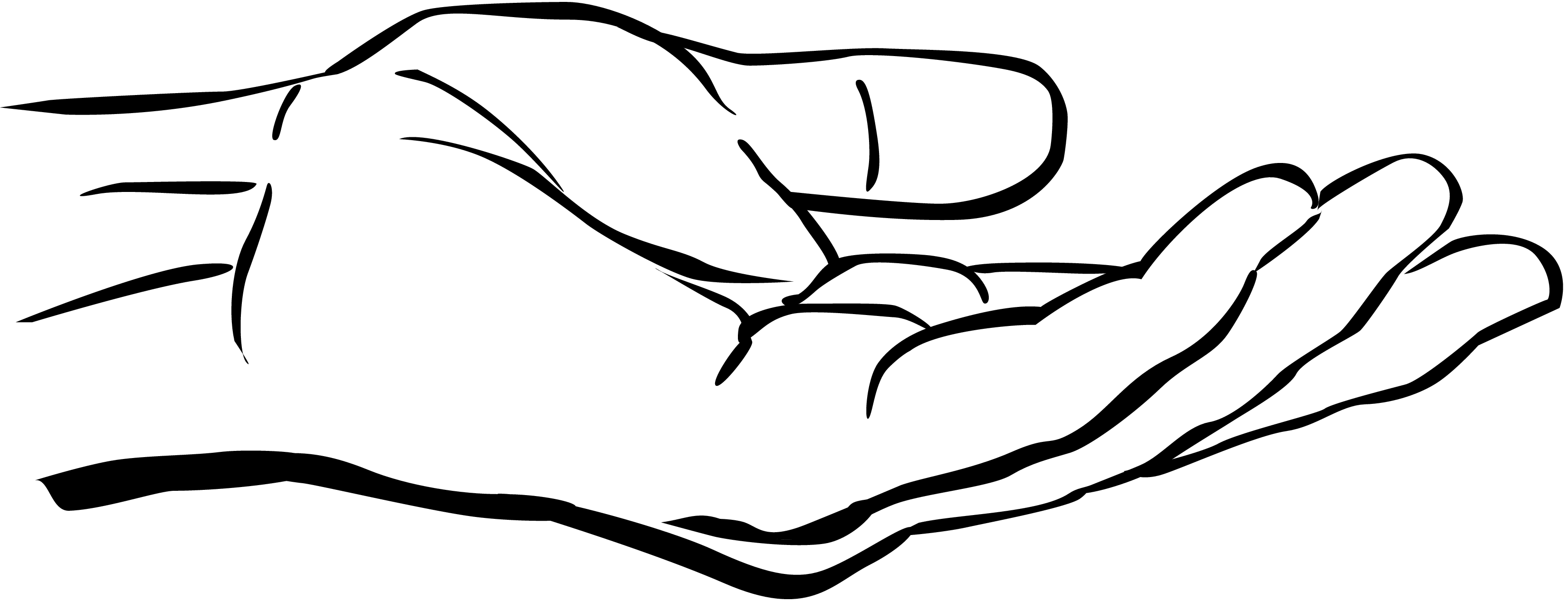 3300x1267 Clipart Hand Reaching Out