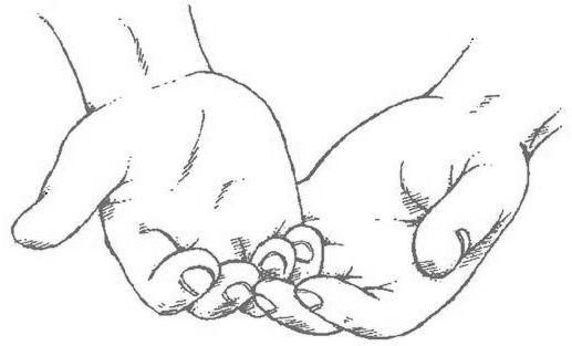 517x313 Hand Reaching Out Drawing Sketch Coloring Page