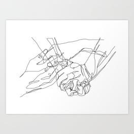 264x264 Holding Hands Art Prints Society6