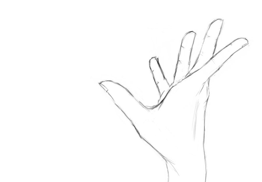 Hand Reaching Out Drawing at GetDrawings.com | Free for ...