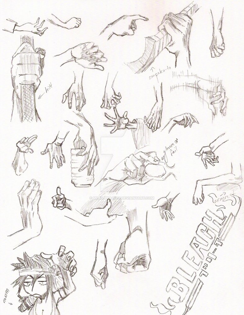 786x1017 Bleach Hand Reference Page 5 By Momopeach32