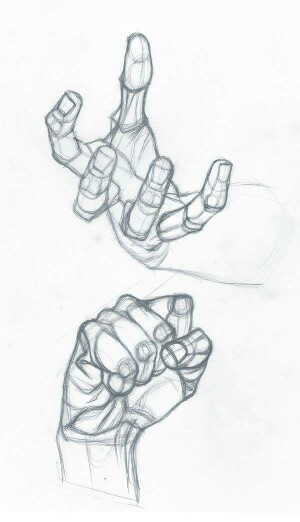 300x522 Hand Drawing By Stefanolanza Hands Tutorial Hand