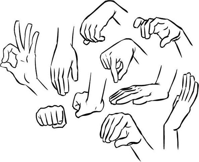 640x523 Hand References. Because I Can'T Always Draw Claws On Bad Hand