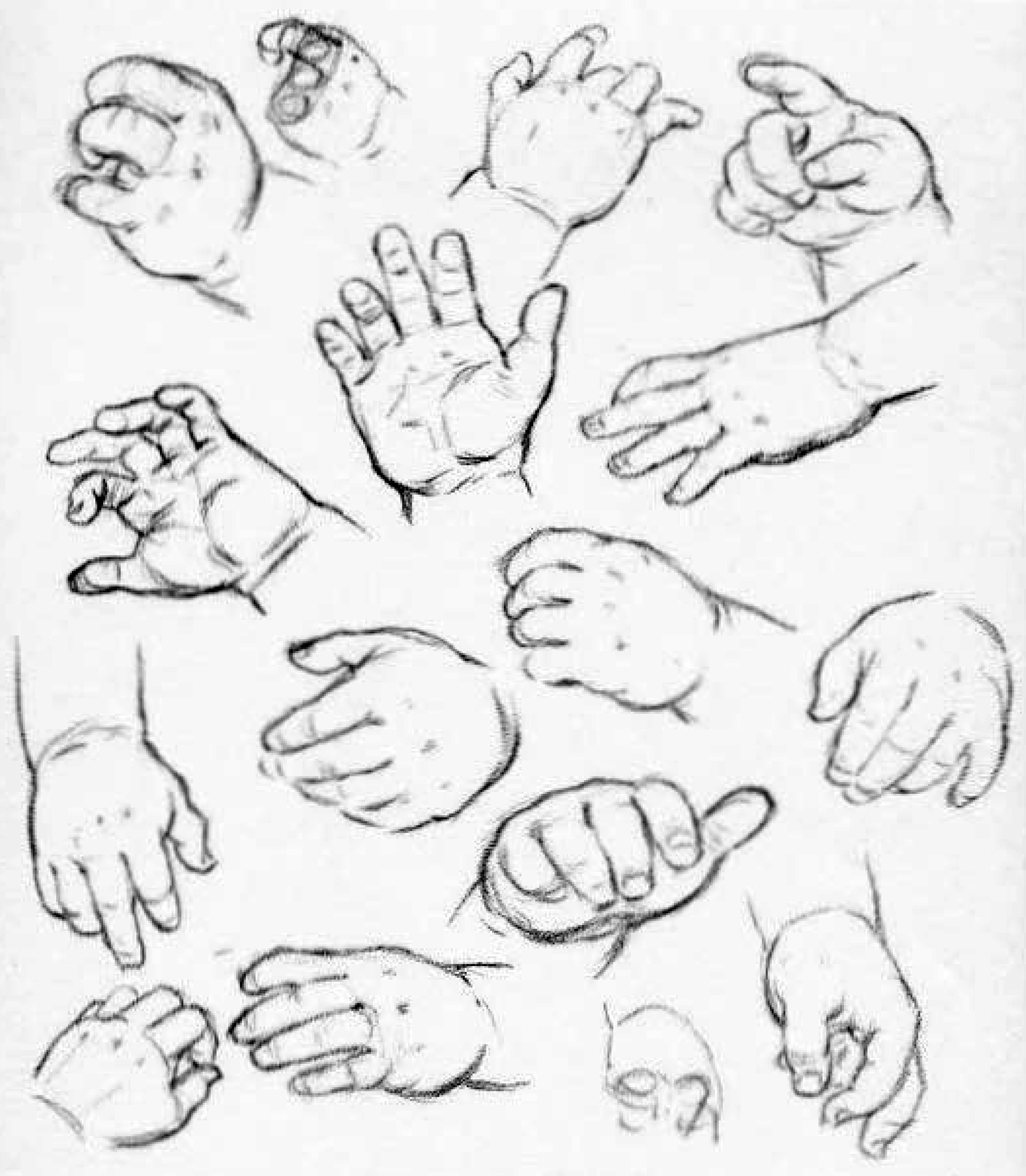 2187x2505 Baby In Hand Drawing How To Draw Hands