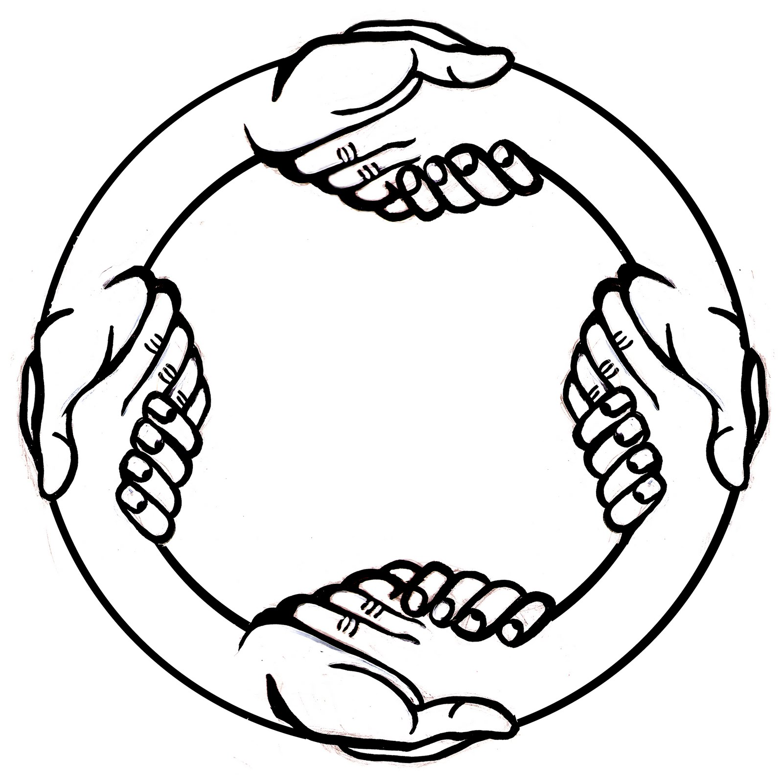 1600x1600 Drawing Of A Handshake Clipart