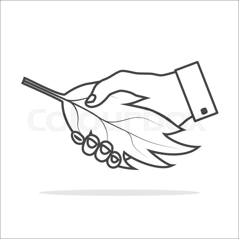 800x800 Ecology Handshake Icon Thin Gray Outline With White Fill