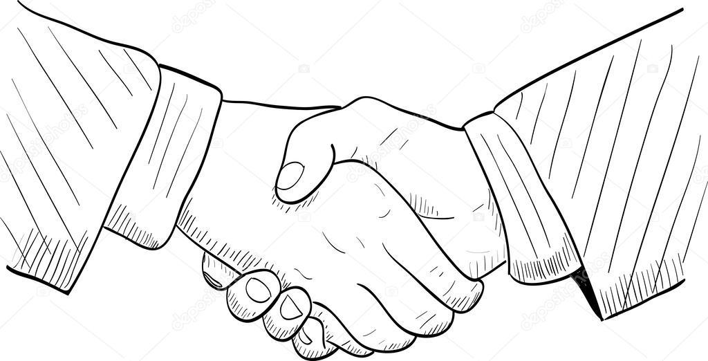 1024x522 Hand Drawn Handshake Stock Vector Dimgroshev