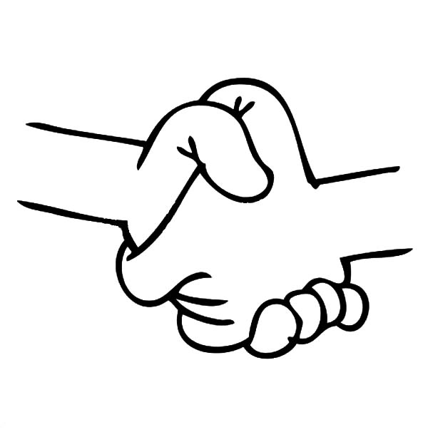 600x627 Shaking My Friend Hands Coloring Pages Best Place To Color