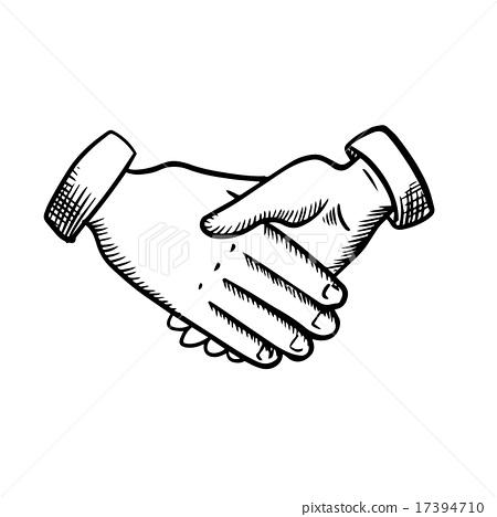 450x468 Sketch Of Business Partnership Handshake