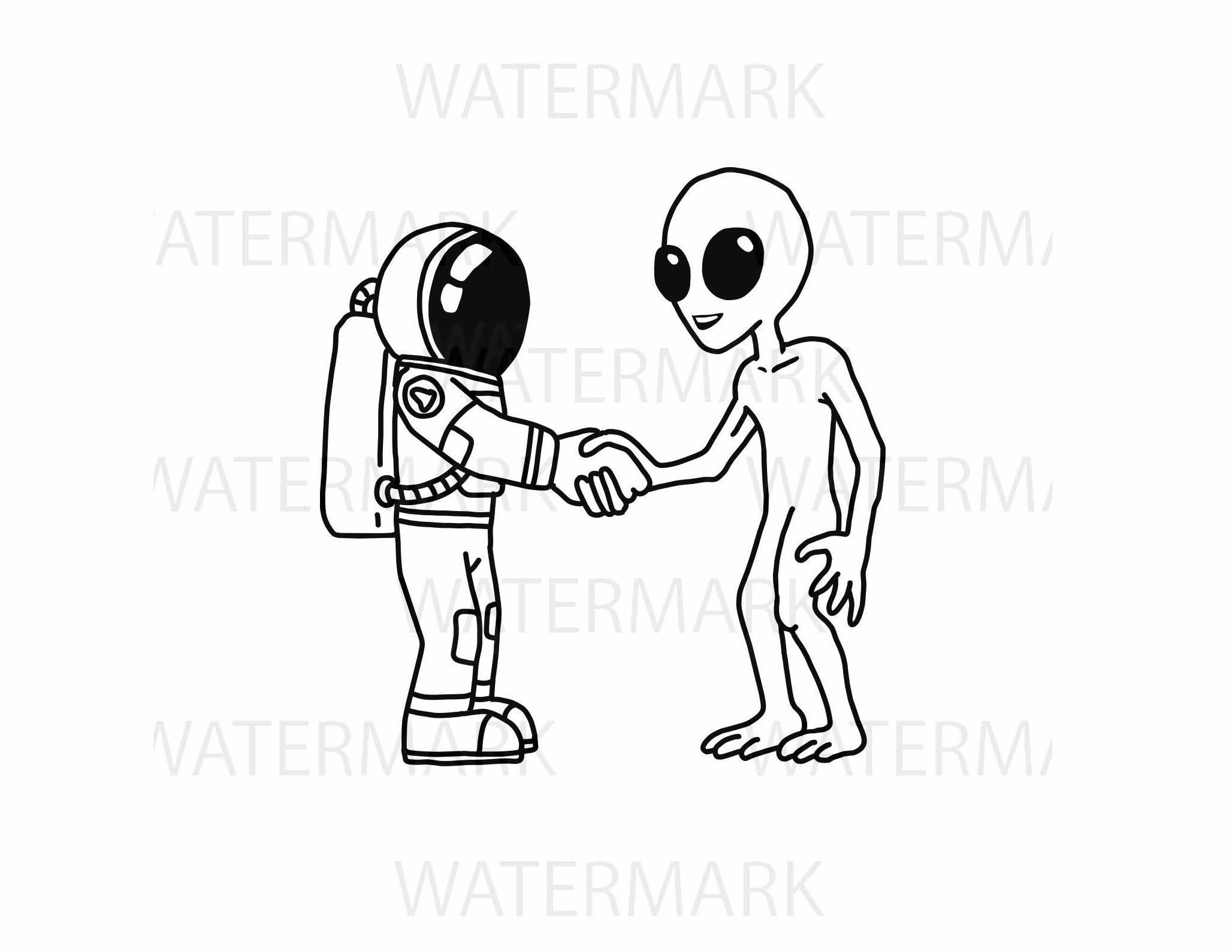 2056x1589 Astronaut Handshake With An Alien For P Design Bundles