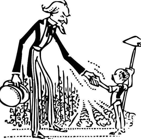 595x586 Uncle Sam, Sketch, Handshake, Handclasp, Drawing, Farm Boy, Field