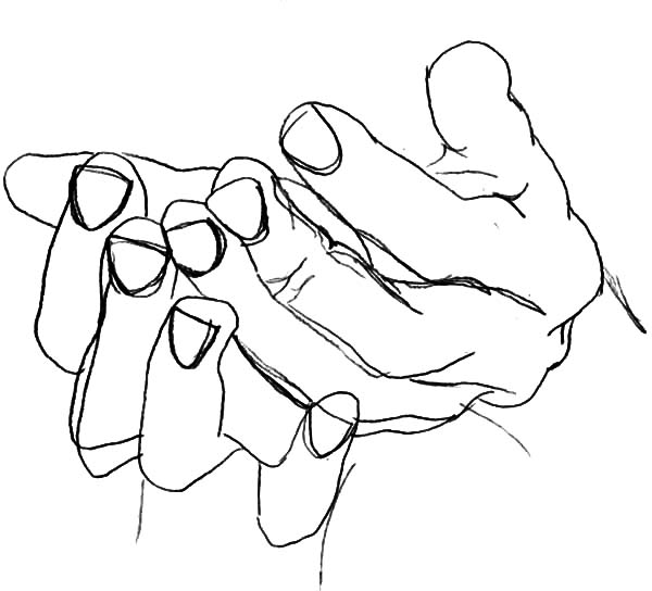 600x544 Drawing Hands Coloring Pages Drawing Hands Coloring Pages Best