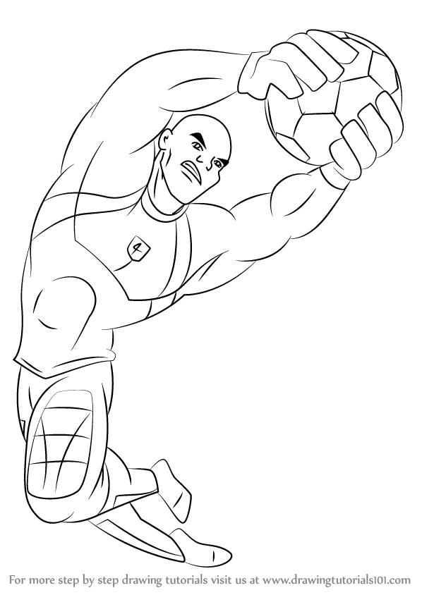 598x844 Learn How To Draw Big Bo From Supa Strikas (Supa Strikas) Step By