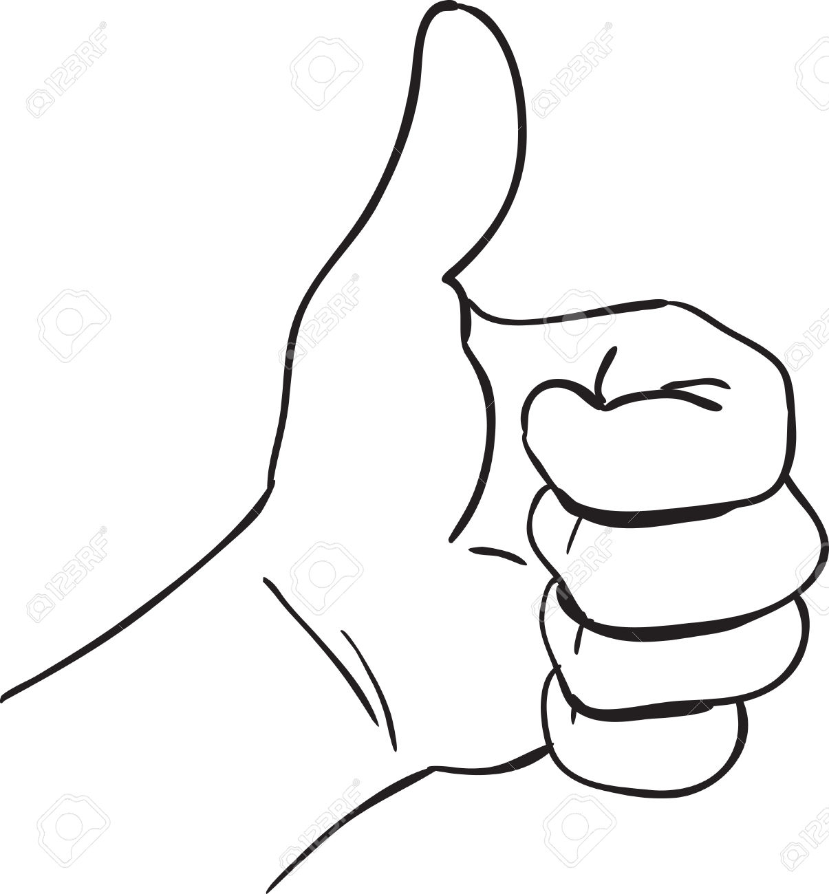 1205x1300 Simple Drawing Of A Hand Vector Illustration Of A Hand With Thumb