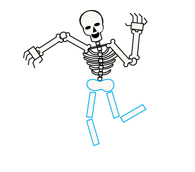 678x600 Coloring Pages How To Draw A Skeleton How To Draw A Skeleton
