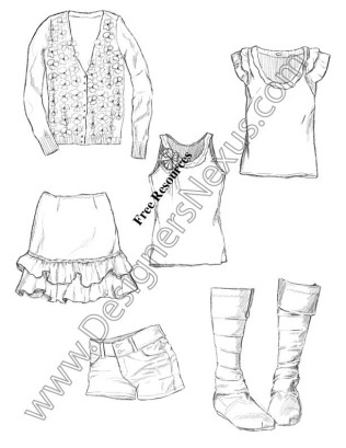 316x409 Hand Fashion Drawing Fashion Apparel Sketches V11