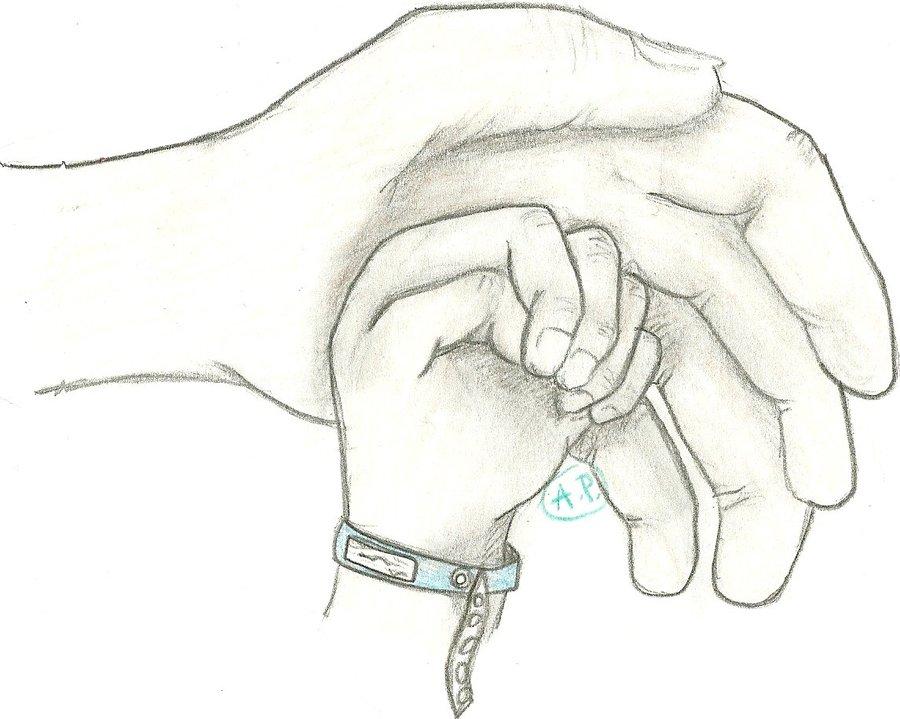 900x719 Hand Sketch 2 New Born By Bluegurl22
