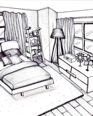 300x372 Interior Hand Sketch Drawing Ideas. Ideas. Kahode Home Design Ideas