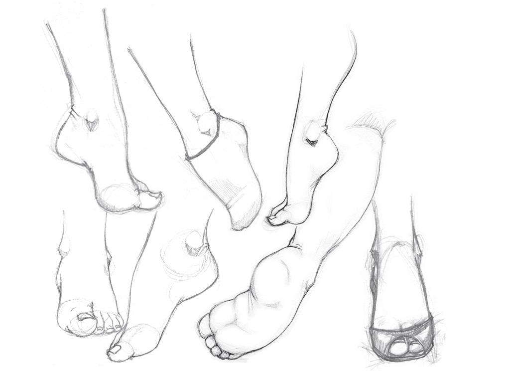1024x768 Foot Study 3 By Risingson16