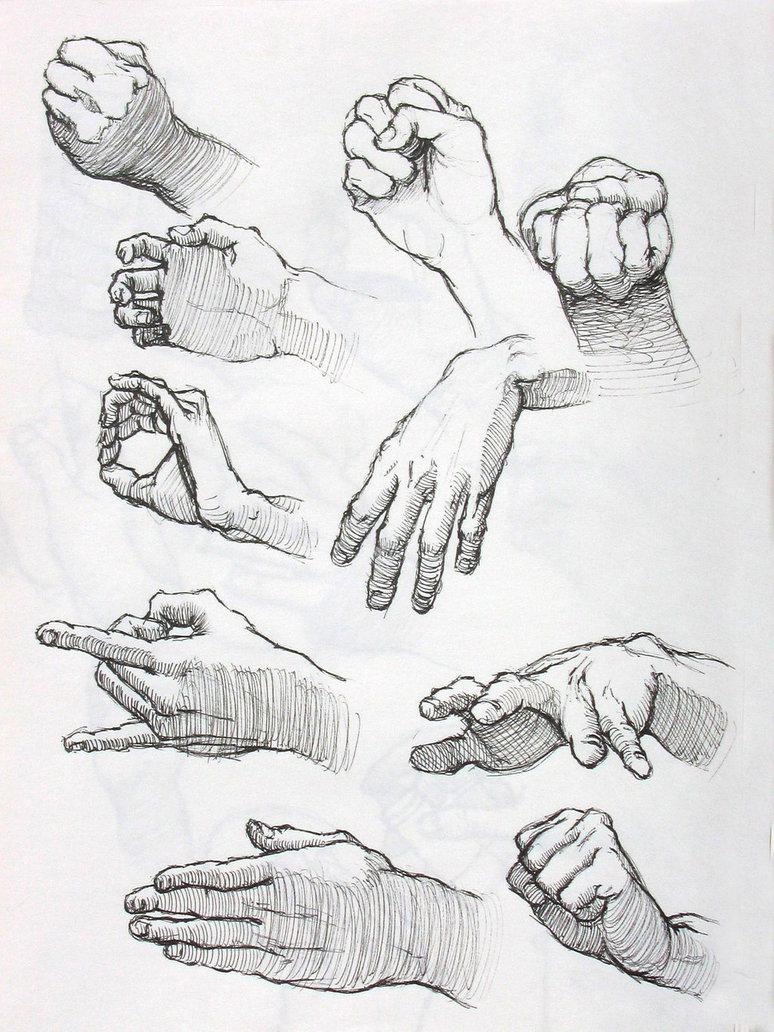 774x1032 Hand Studies In Ink 2 By Lovablemikey