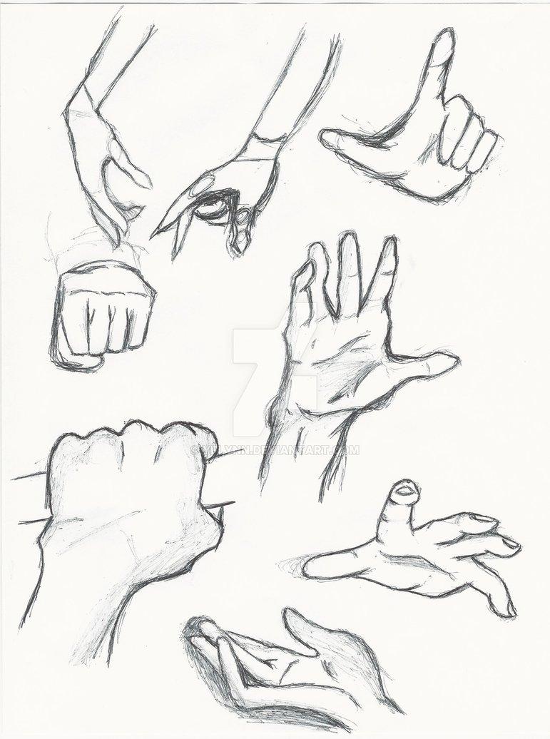 771x1036 Hand Study Anime Hands By Yflynn
