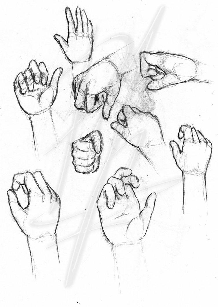 753x1062 Hand Study Sketch By Reznovkg