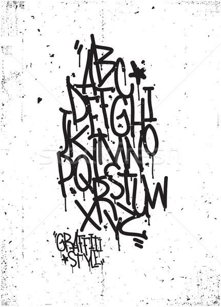 431x600 Hand Drawing Alphabet. Grunge Texture Vector Illustration Ivan
