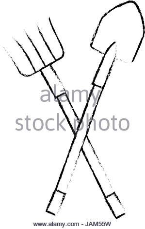 299x470 Gardening Tools Sketch Stock Vector Art Amp Illustration, Vector