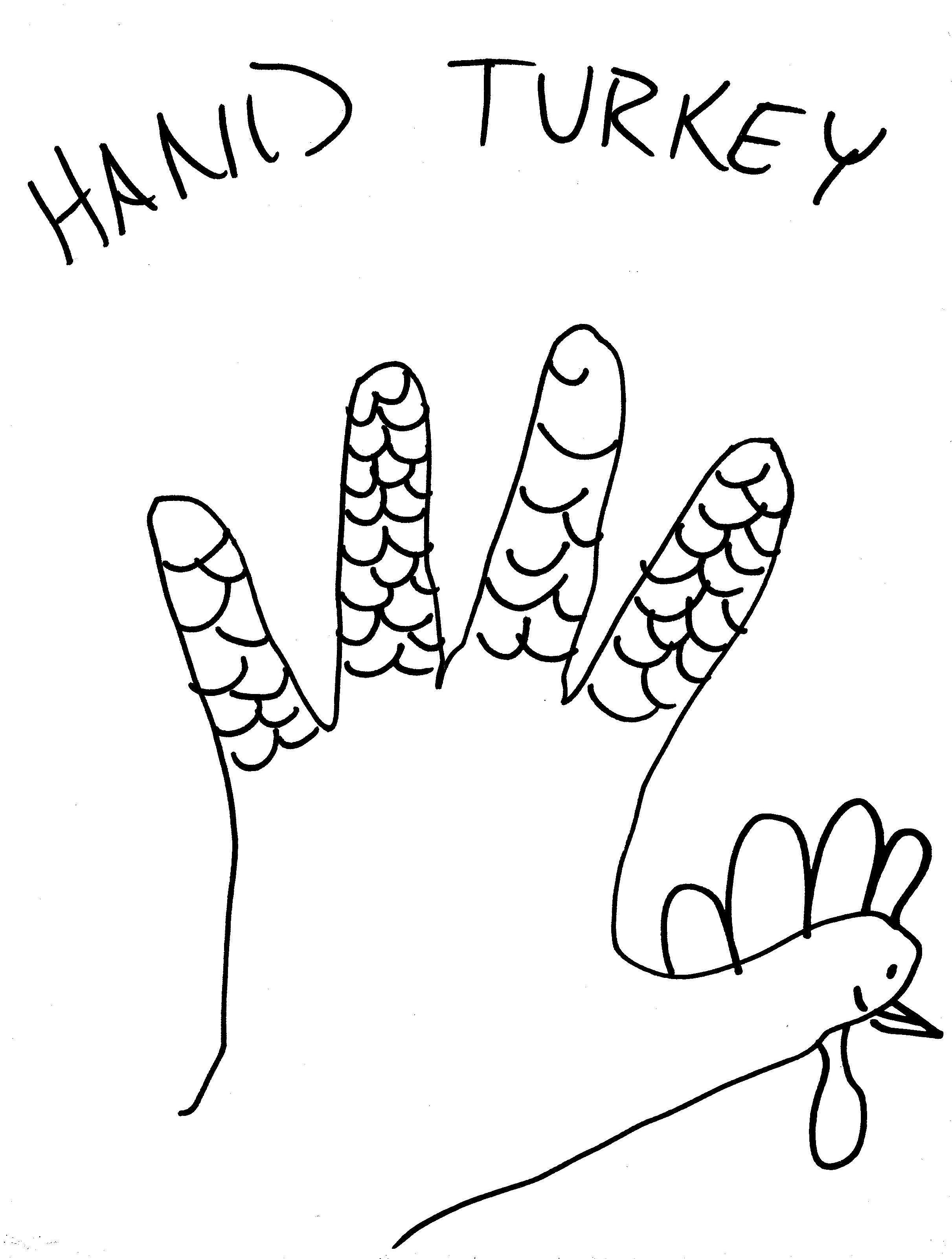 2422x3202 Turkey Hand Drawing Day 293 Hand Turkey Making Made
