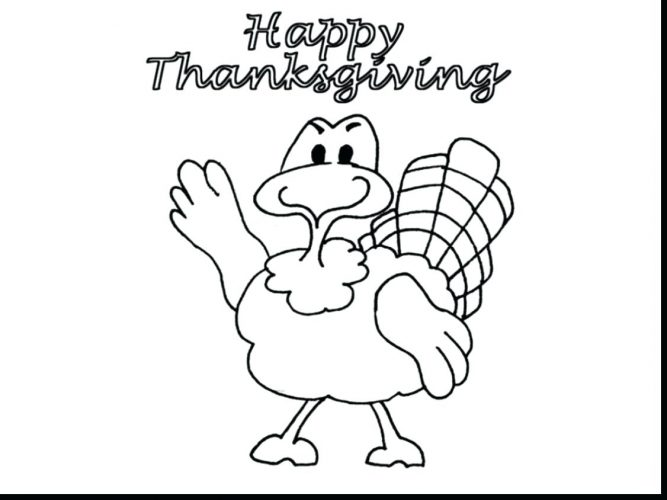 667x500 Coloring Page ~ Coloring Page Turkey Drawing Outline Printable