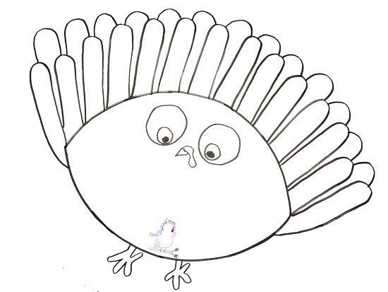550x413 Gobble Til You Wobble Turkey Drawing
