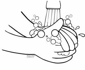 300x247 Hand Washing Coloring Page