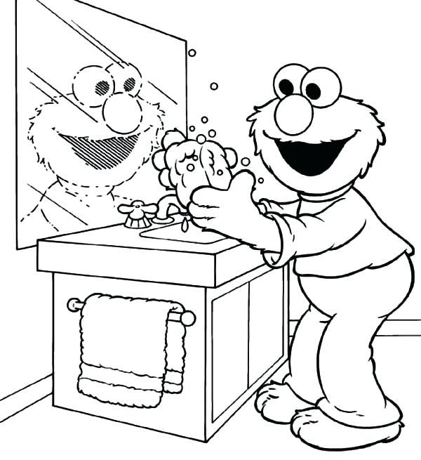 600x655 Hand Washing Coloring Sheet Hand Washing Doing Hand Washing