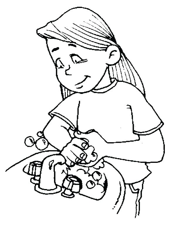 600x849 Hand Washing Coloring Pages