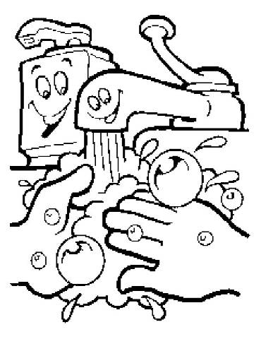 370x480 Handwashing Coloring Pages Best Hand Washing Coloring Pages