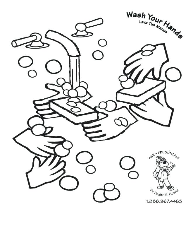 660x854 Praying Hands Coloring Page Hand Washing Pages