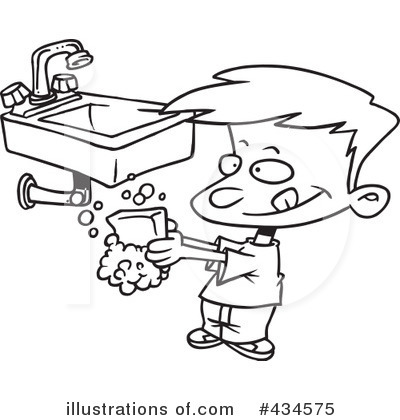 400x420 Washing Clipart Black And White