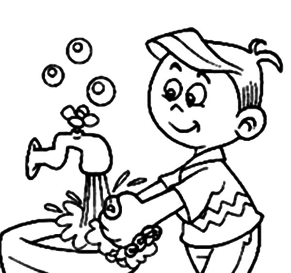 600x563 Fdefabc Cute Hand Washing Coloring Pages For Preschoolers