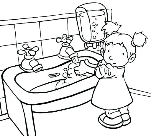 512x464 Good Hand Washing Coloring Pages Hand Washing Coloring Pages