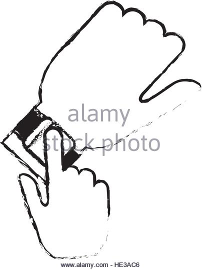 404x540 Drawing Smart Watch Phone Wearable Stock Photos Amp Drawing Smart