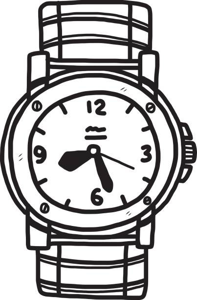 403x612 Hand Watch Clipart Black And White