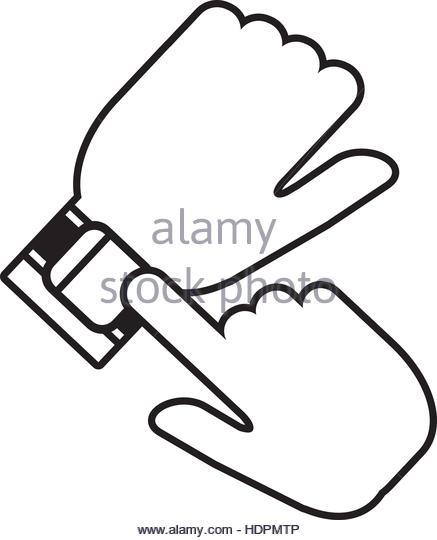 437x540 Illustration Hand Wearing Smart Watch Stock Photos Amp Illustration