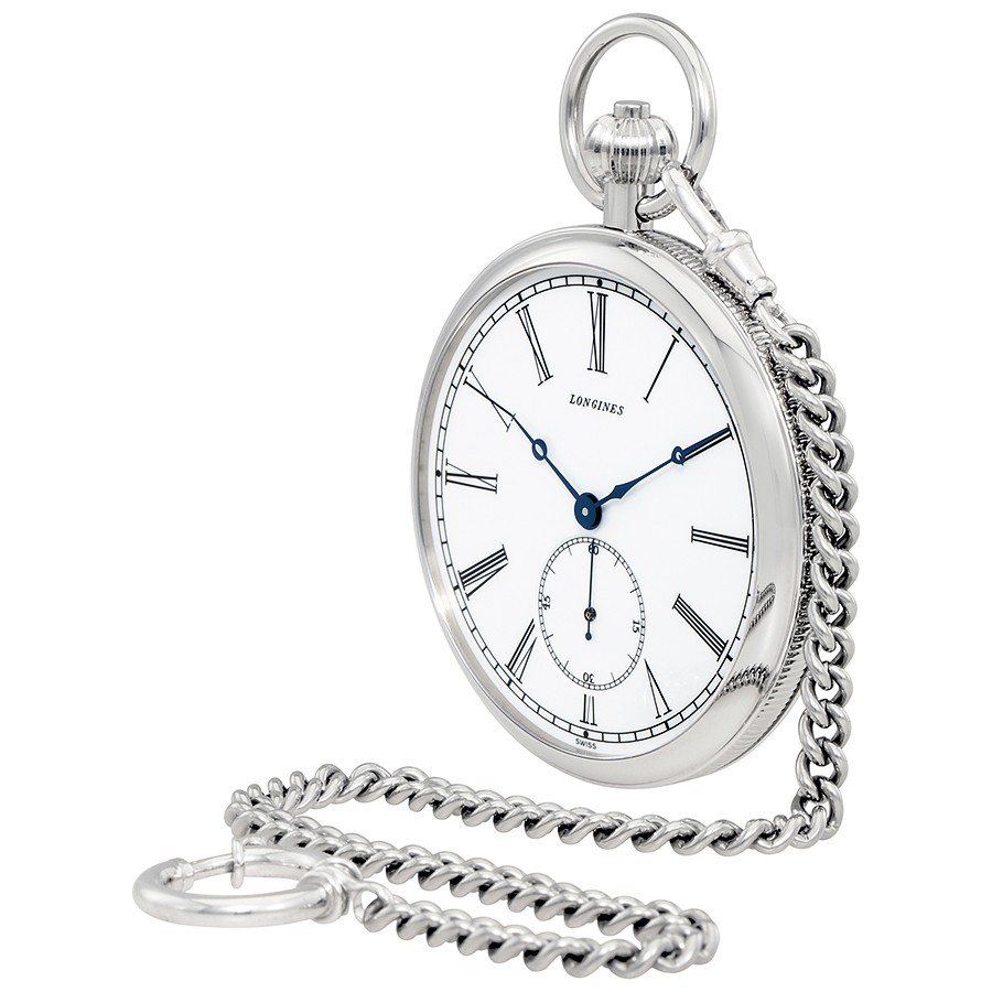 900x900 Longines Heritage White Dial Hand Wound Pocket Watch L7.022.4.11.1