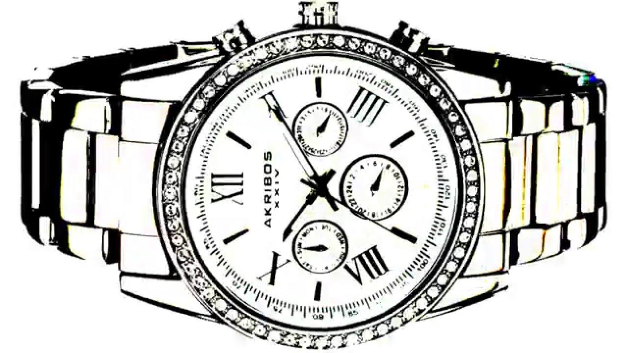 1280x720 Akribos Xxiv Men's Round Silver Dial Three Hand Quartz Bracelet