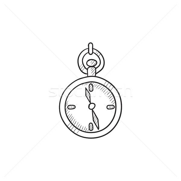 600x600 Pocket Watch Sketch Icon. Vector Illustration Andrei Krauchuk
