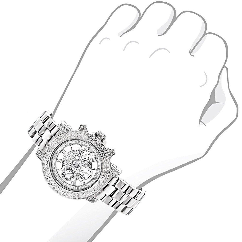 1500x1500 Luxurman Montana Real Diamond Watch For Women