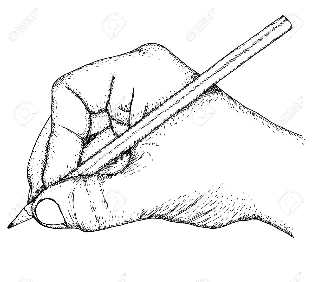 1300x1169 Hand With Pencil Royalty Free Cliparts, Vectors, And Stock